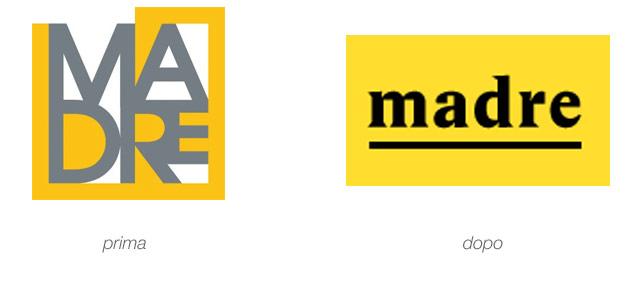 museo madre vecchio e nuovo logo